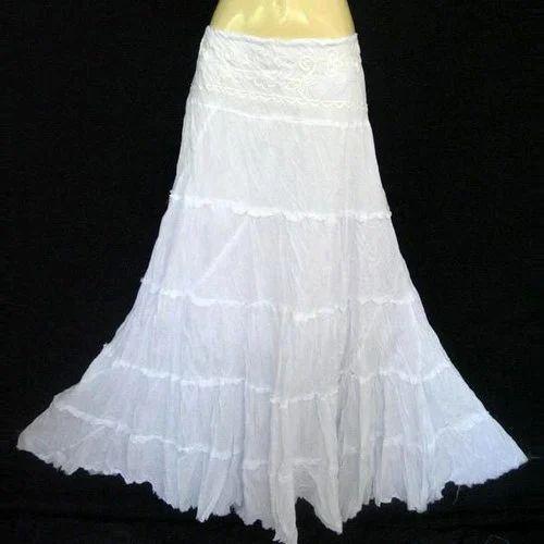 d120f0dd19 Ladies White Long Skirt at Rs 500 /piece | Ladies Skirt - Viva ...