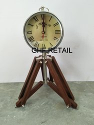 New Battery Antique Round clock with tripod stand, Model No.: 0006, size: Medium