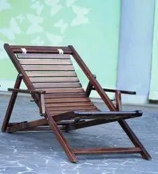 Brown Steam beech wood GARDEN FOLDING CHAIR
