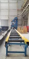 Steel Roller Conveyor, Material Grade: A, Capacity: 10 Ton