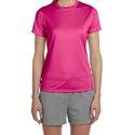 Ladies Pink Polyester T-Shirt