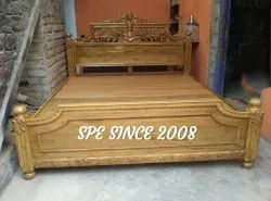 15 Working Days Natural,Rosewood and walnut Carving Teak Wood Cot
