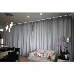 Plain Cotton Ripple Fold Curtain
