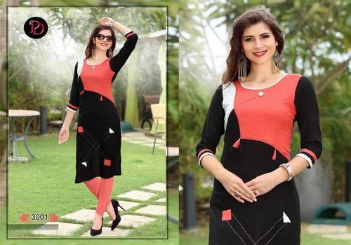 b6b8336e11 Poorvi Rayon Designer Kurti, Rs 399 /piece, B.A. Textile Mills | ID ...