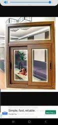 Powder Coating aluminium Wooden Colour Sliding Window