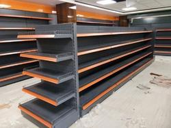 Free Standing Unit Grocery Racks, For Supermarket