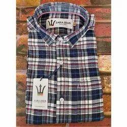 Men's Cotton Check Formal Shirt, Packaging Type: Box