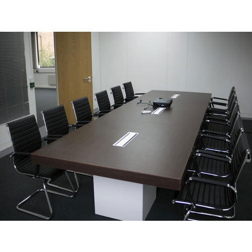 Wooden Rectangular Office Conference Table Size Feet X - 14 foot conference room table
