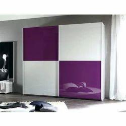 White and Purple PVC Rectangular Wardrobe, Thickness: 15-20 mm