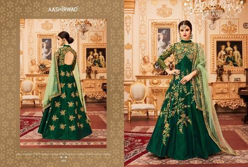 637ecc2d4e Thankar Designer Suit with Pari Silk with Coding & ChainStich Embroidery  work with Stone