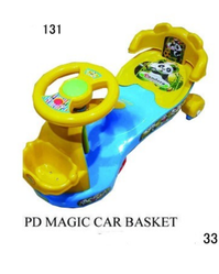 Multicolor Plastic PD Baby Basket Magic Car