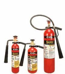 Safex Wheel Type C02 Fire Extinguishers - 4.5kg
