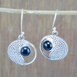 925 Sterling Silver Jewelry Black Onyx Gemstone New Earring We-5381