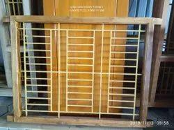 Wooden Finished Teak Wood Window, Rectangle, Size/Dimension: 4*4