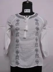 Cotton Chiken Embroidery Kurti
