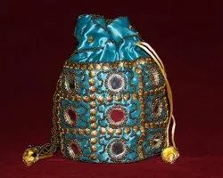 Embroidered Colorful Potli