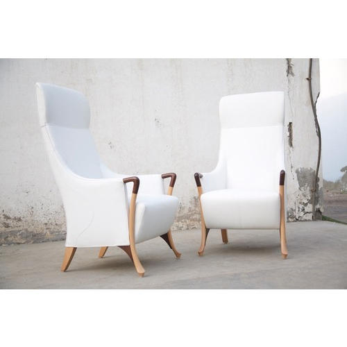 Modern High Back Chairs: White Wooden Modern High Back Chairs, Rs 95000 /set, B&B