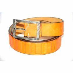 Leather Mens Yellow Belt