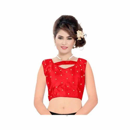 b139345cdfbc07 Banarasi Broket Printed Ladies Silk Blouse