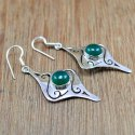 Designer Jewelry 925 Sterling Silver Green Onyx Gemstone Handmade Earring WE-6043