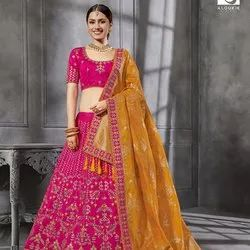 Fancy Pink Lehenga Choli