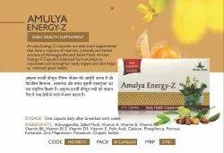 Amulya Energy-z 30 Capsules, Packaging Type: Plastic Jar