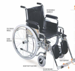 SAVINA- Premium Steel Wheelchair