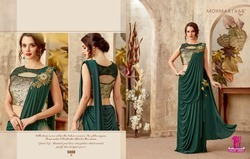 Lycra Butterfly Designer Ready-Made Saree
