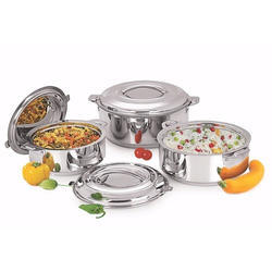 National Stainless Steel Hot Pot 3 Piece Set for Home