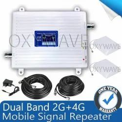 Dual Band 2G 4G Mobile Signal Booster Amplifier Fully Kit - Coverage 1500 sq. Feet