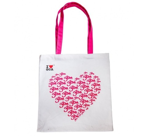 White Cotton Promotional Printed Bag