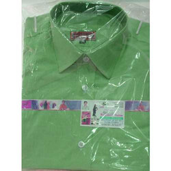 Collar Neck Casual Wear Mens Green Causal Cotton Shirt