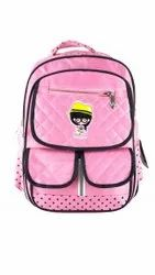 Pink Colour Girls School Bags
