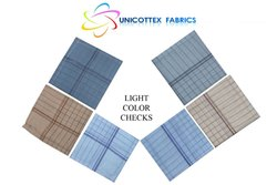 Light Color Men Checks Handkerchief