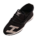 Men's Black Pu With Mesh Sports Shoes