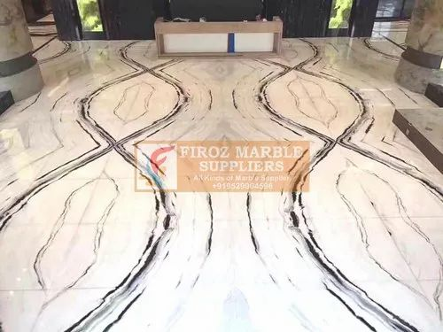 Polished Marble Flooring, Thickness: 15-20 mm, We Take Above 4000 Square Feet