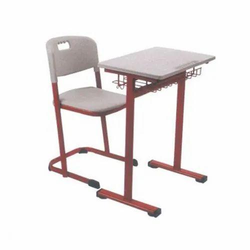 Hitech Mild Steel Student Desk And Chair Set