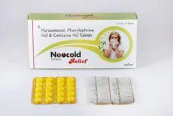 Paracetamol, Phenylephrine HCL and Cetririzine HCL Tablet