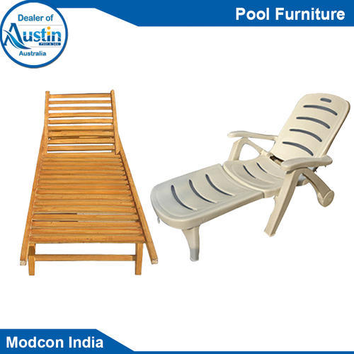 Whiteu0026Brown Plastic Pool Furniture