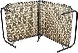 Multicolor Folding Bed with Nylon Niwar 3X6 ft (Medium Size), Size: 3*6