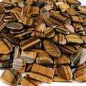 Natural Yellow Tiger Eye Plain Cabochon in Wholesale Assortment Gemstone For Jewellry Making