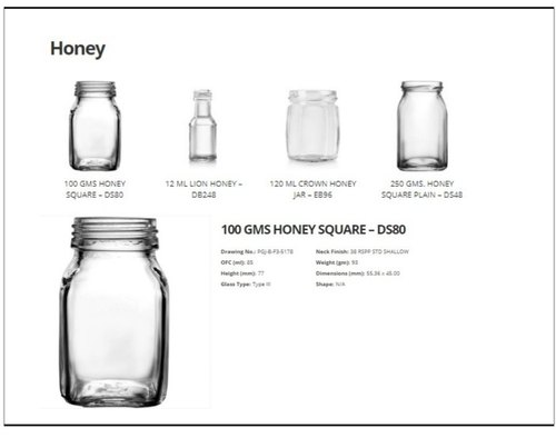 Honey Glass Bottles