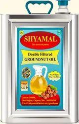 SHYAMAL Jasdan Cold Pressed Peanut Oil, Natural, Packaging Type: Tin