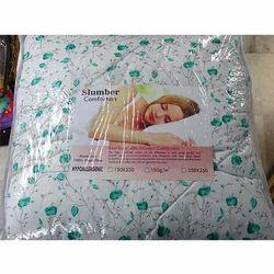 White Printed AC Cotton Comforters