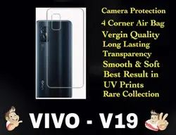 Silicon VIVO V19 Transparent Mobile Back Cover