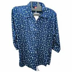 Zoya 3/4 Sleeves Women Printed Shirt, Packaging Type: Packet
