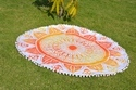 Orange Trishul Ombre Cushion