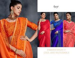 Saroj Aakshara Series 80001-80008 Stylish Party Wear Rangoli Saree