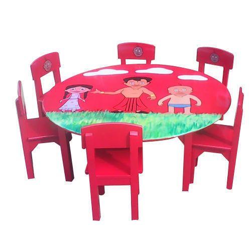365e98cf118 Wood Red Chota Bheem Chair And Table Set