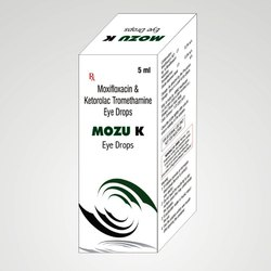 Mozu-K Allopathic Mixifloxacin And Ketorolac Tromethamine Eye Drops, Packaging Type: Box, Packaging Size: 5 Ml